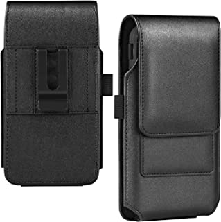 BECPLT Galaxy Note 9 Holster Case, Galaxy Note 10 Plus 5G Belt Clip Case, Leather Belt Holster Pouch Case with Card Holder for Samsung Galaxy S10 Plus S9 Plus S8 Plus/Moto E5 Plus (Fit w/thin Case on)