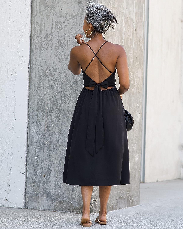 The Drop Women's Black Faux Wrap Midi Dress by @thetennillelife_