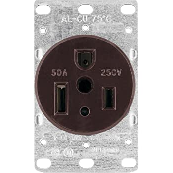 [SCHEMATICS_43NM]  Eaton 1254 50-Amp 2-Pole 3-Wire 250-Volt Heavy Duty Grade Flush Mount Power  Receptacle, Brown - Electric Plugs - Amazon.com | 250 Volt Wiring Diagram |  | Amazon.com