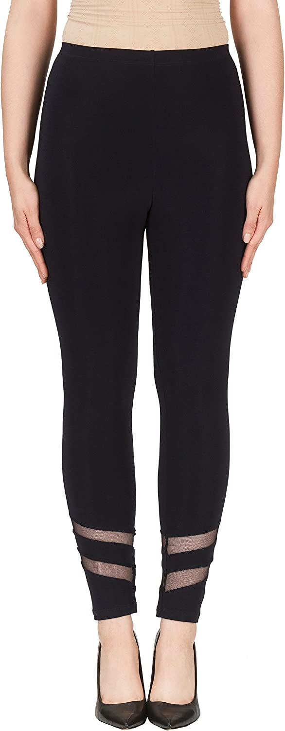Joseph Ribkoff Midnight bluee Stretch Pants with Ankle Cut Outs Style 171173