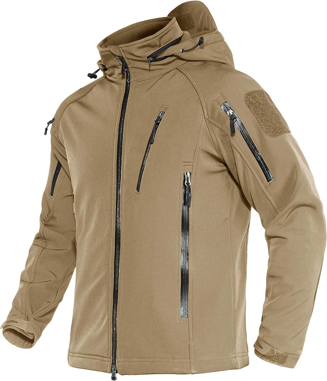 MAGNIVIT Men's Tactical Jacket 8 Water SEAL限定商品 Winter Pockets 数量限定アウトレット最安価格 Resistant