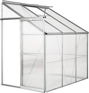 comprar comparacion TecTake Invernadero de jardín policarbonato Transparente Aluminio casero Plantas Cultivos 4,09m³ - Varios Modelos - (192x1...
