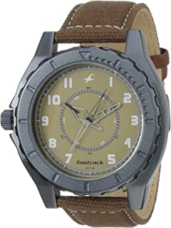 Fastrack OTS Explorer Analog Beige Dial Men's Watch - 9462AL02