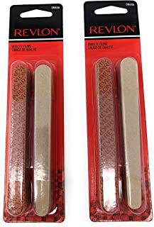 Revlon Compact Emery Boards Nail File, Dual Sided for Shaping and Smoothing Finger and Toenails, 24 Count, Pack of 2