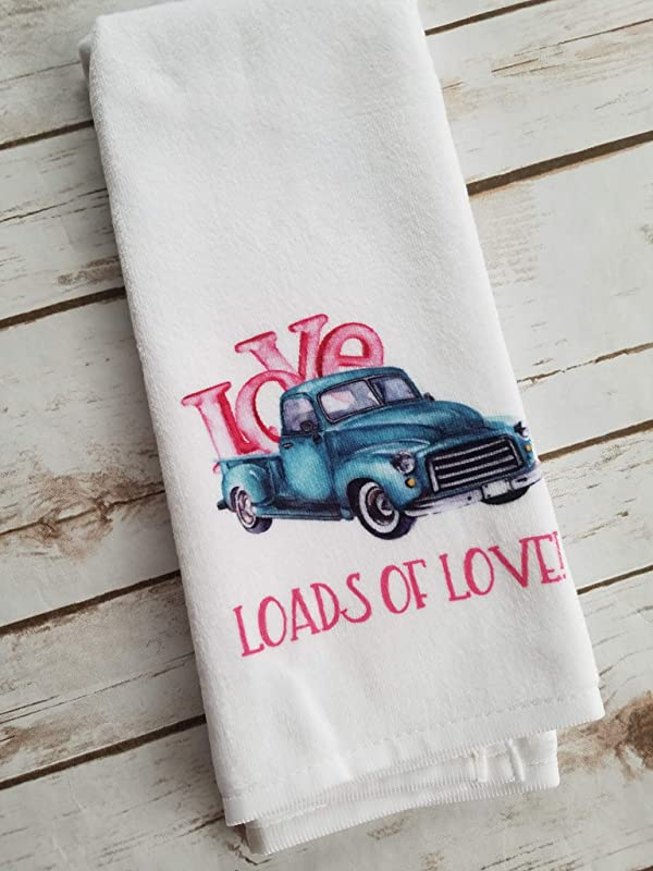 Valentine S Day Gift Loads Of Love Truck Kitchen Bathroom Towel