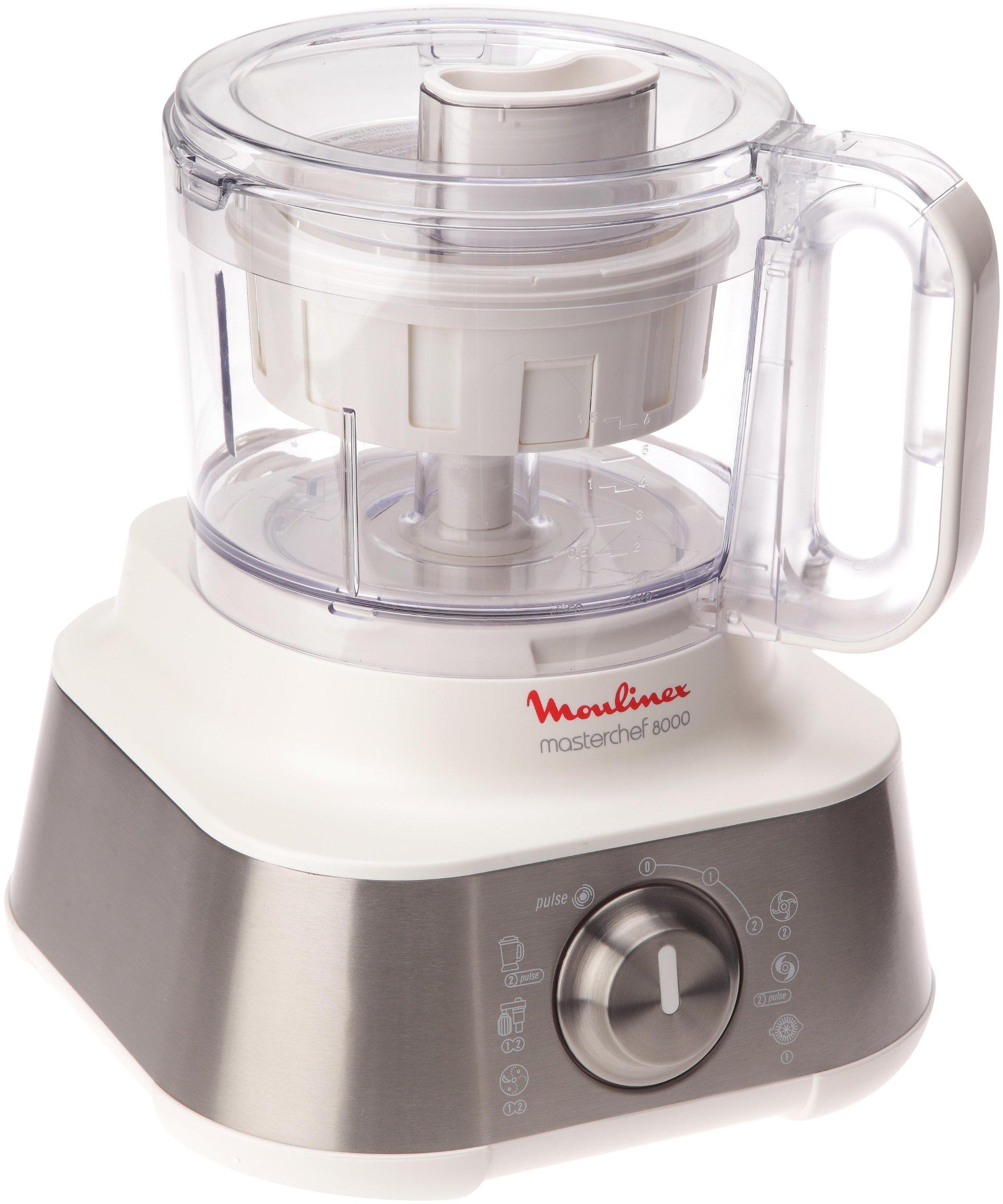 Moulinex Masterchef 8000 - Robot de cocina (3 L, Plata, Blanco, Giratorio, 1,5 L, Vidrio, Acero inoxidable): Amazon.es: Hogar