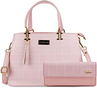 BELLISSA Women's Handbag (Set of 2, Pink)