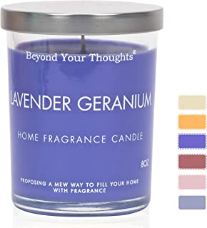 Beyond Your Thoughts Scented Candles Jar Candle Natural Aromatherapy Soy and Paraffin Wax 100% Cotton Wick Mixed Popular Fragrances Lavender&Geranium