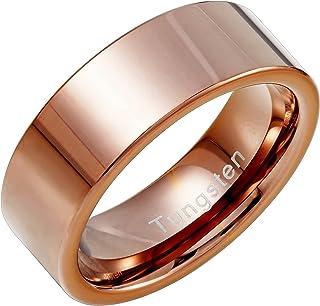 أوربان مجوهرات سادة من التنجستن معدن البرونزي خاتم زفاف 8 مم خاتم للرجال