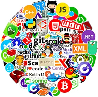 Laptop Stickers for Developer (108PCS) Programming Stickers of Front-end dev ,Back-end Languages Stickers for Software Dev...