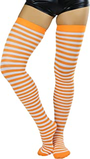 Women's Striped Thigh Hi