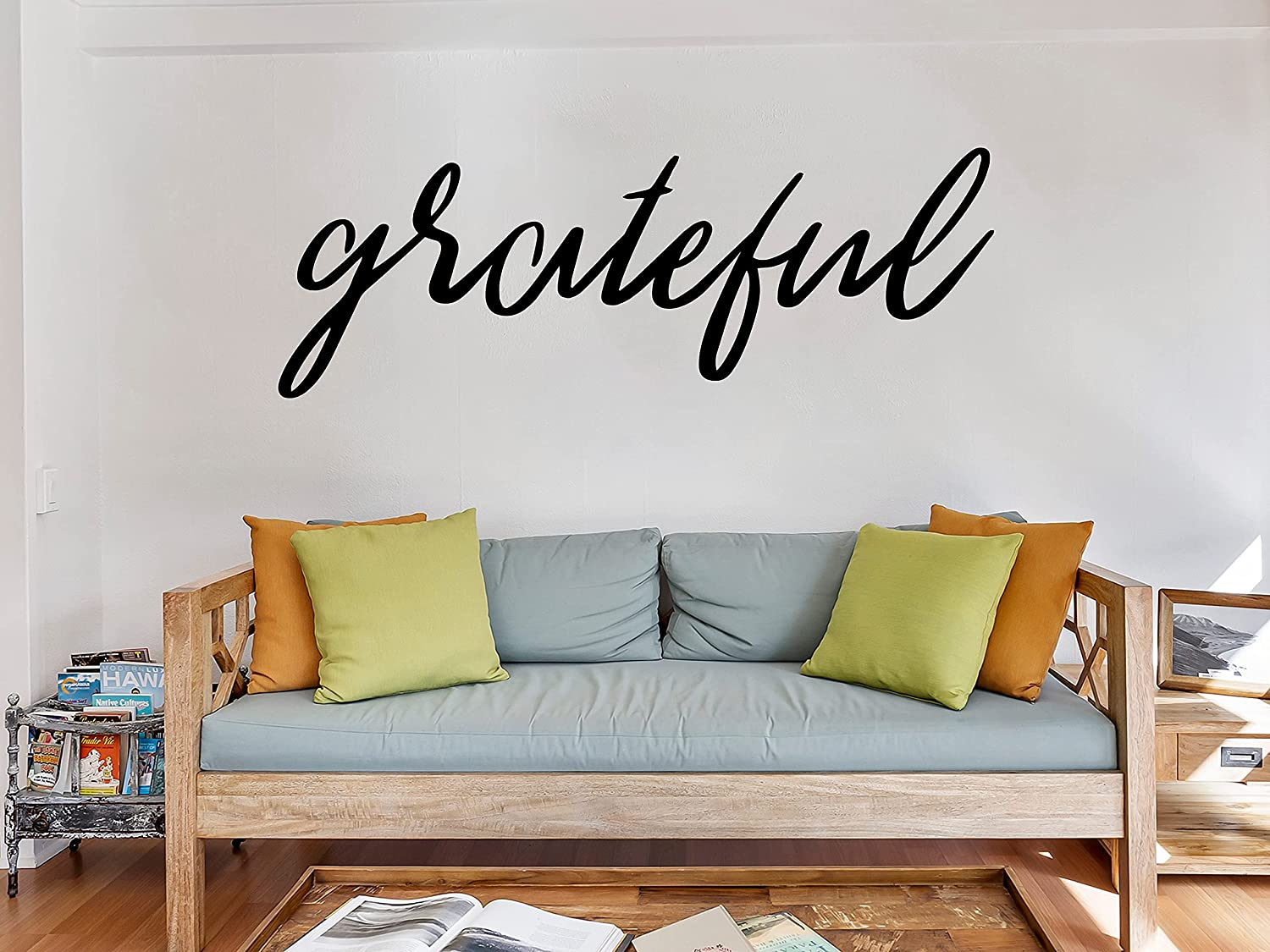 Grateful Cursive Vinyl excellence Sign Decal Sticker Car Decor Home W Popular brand in the world for