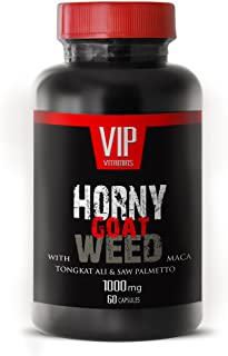 Horny Goat Weed 1000mg with Mucuna Pruriens, Muira Puama, Panax Ginseng Root and Tongkat Ali Powder for Stamina (1 Bottle ...