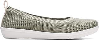 Clarks Ayla Paige, Women's Women Shoes, Green (Dusty Olive Knit), 6 UK (39.5 EU)