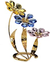 Crystal Gifts 1406/3 Flower Decor - Multicolor