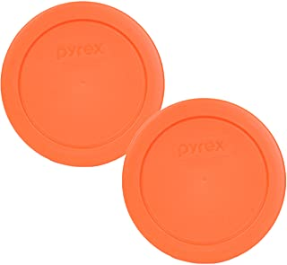 Pyrex 7200-PC 2 Cup Orange Round Plastic Lid - 2 Pack