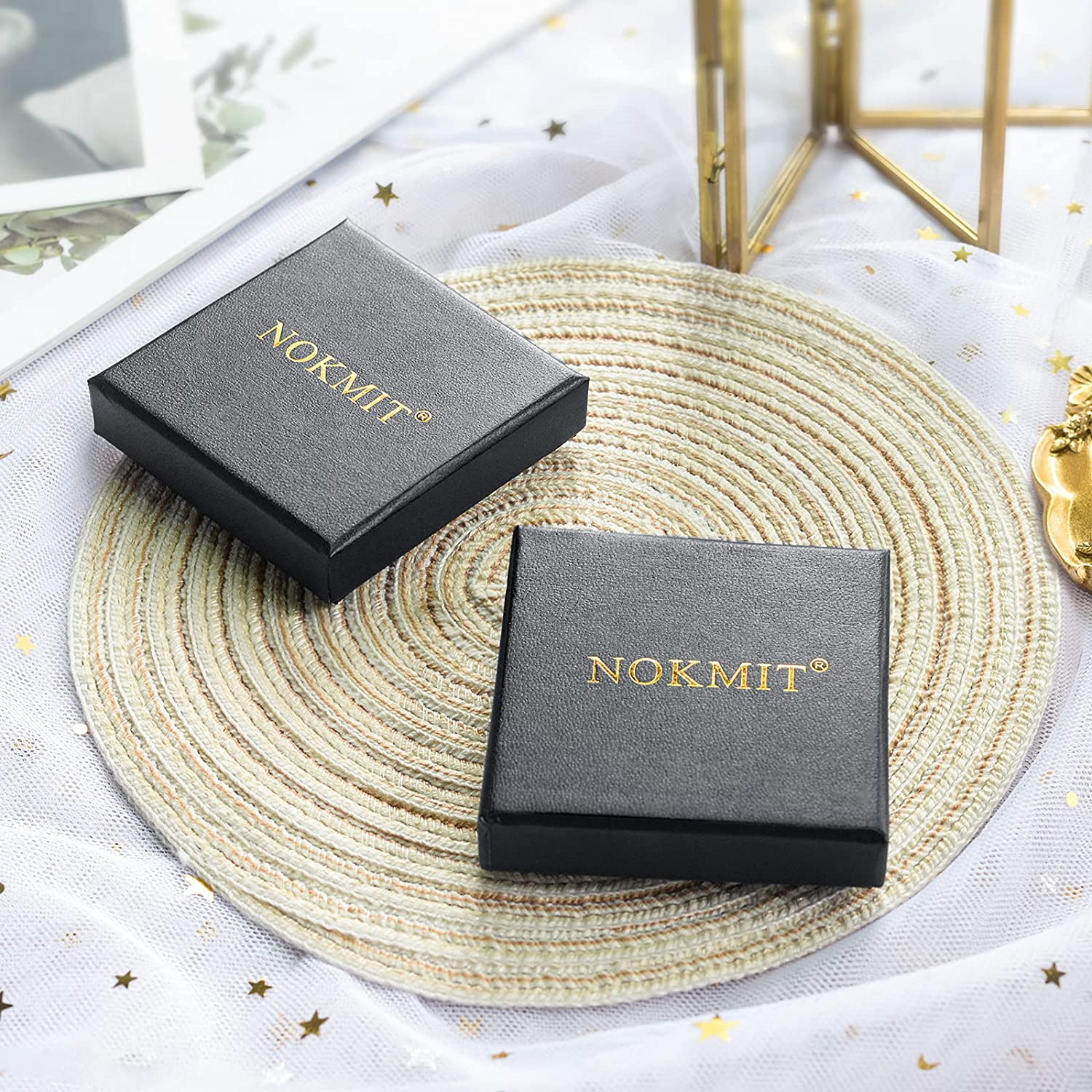 NOKMIT 1mm 14K Gold Plated Rings Stacking Rings for Women Girls Stackable Thin Gold Ring Plain Statement Band Comfort Fit Size 5 to 10