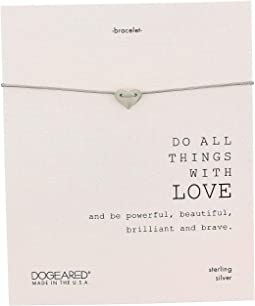 Do All Things with Love Sliding Heart Pebble Bracelet