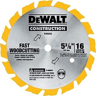 DEWALT DW9055 5-3/8-Inch 16 Tooth Series Arbor Carbide Circular Saw Blade