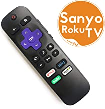SANYO ROKU TV Replacement Remote w/Volume Control and TV Power Button