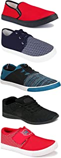 WORLD WEAR FOOTWEAR Sports Running Shoes/Casual/Sneakers/Loafers Shoes for Men Multicolor (Combo-(5)-1219-1221-1140-694-1014)