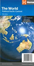 World Political Pacific Centered Foled Map Hema
