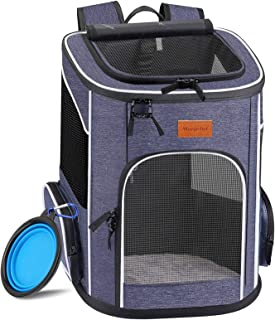 morpilot Dog Backpack Carrier, Foldable Cat Backpack Carrier for Small Cats and Dogs, Ventilated Design Pet Travel Carrier...