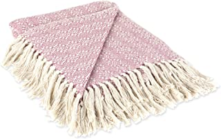 DII Rustic Farmhouse Cotton Diamond Patterned Blanket Throw with Fringe For Chair, Couch, Picnic, Camping, Beach, & Everyd...