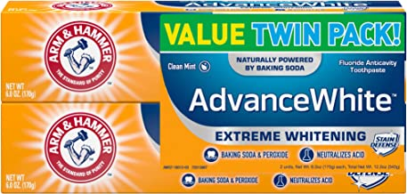 Arm & Hammer Advance White Extreme Whitening with Stain Defense, Fresh Mint, 6 oz..