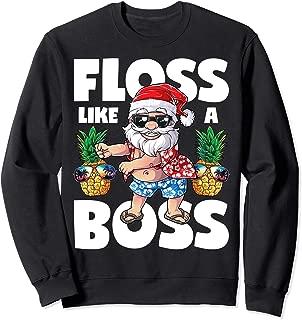 Santa Floss Like A Boss Sweatshirt Christmas Men Flossing