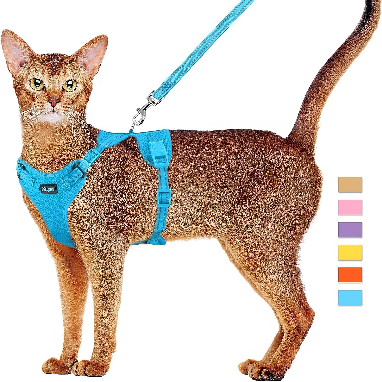 Cat Harness and Great interest Max 80% OFF Leash Set Proof Escape Kitten Adjustabl