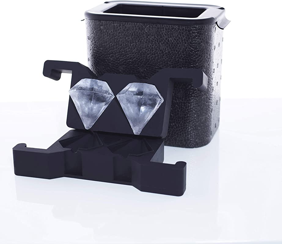 Crystal Clear Diamond Shaped Ice Maker 2 Cavity Mold 3 Dimensional 2 25 Inch Large Diamond Cut Ice By Better Kitchen Products