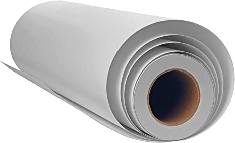 8 oz 280 GSM Canvas for Wide Format Printer Manufactured by Plotter Paper Direct 60 x 75 ft Professional Grade Matte Bright White Polyester Inkjet 15 mil