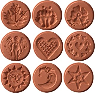 JBK Pottery Unique Cookie Stamps, Set of 9