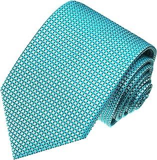 Lorenzo Cana - Design Krawatte aus 100% Seide - Türkis Hellblau mit Punkten - 84404