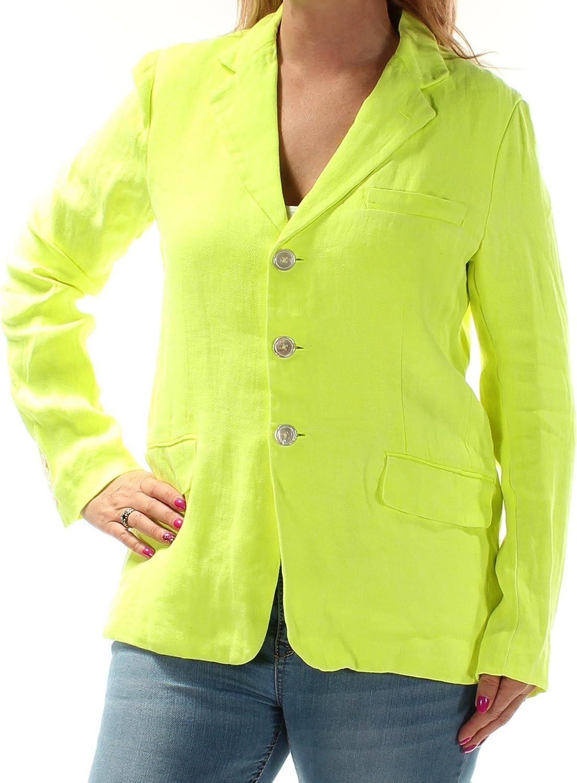 RALPH LAUREN  298 Womens New 1734 Green Blazer Casual Jacket 12 B+B