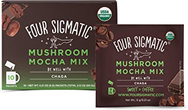 FOUR SIGMATIC Mushroom Mocha Mix with Chaga & Cacao (10 Packets), 6 g