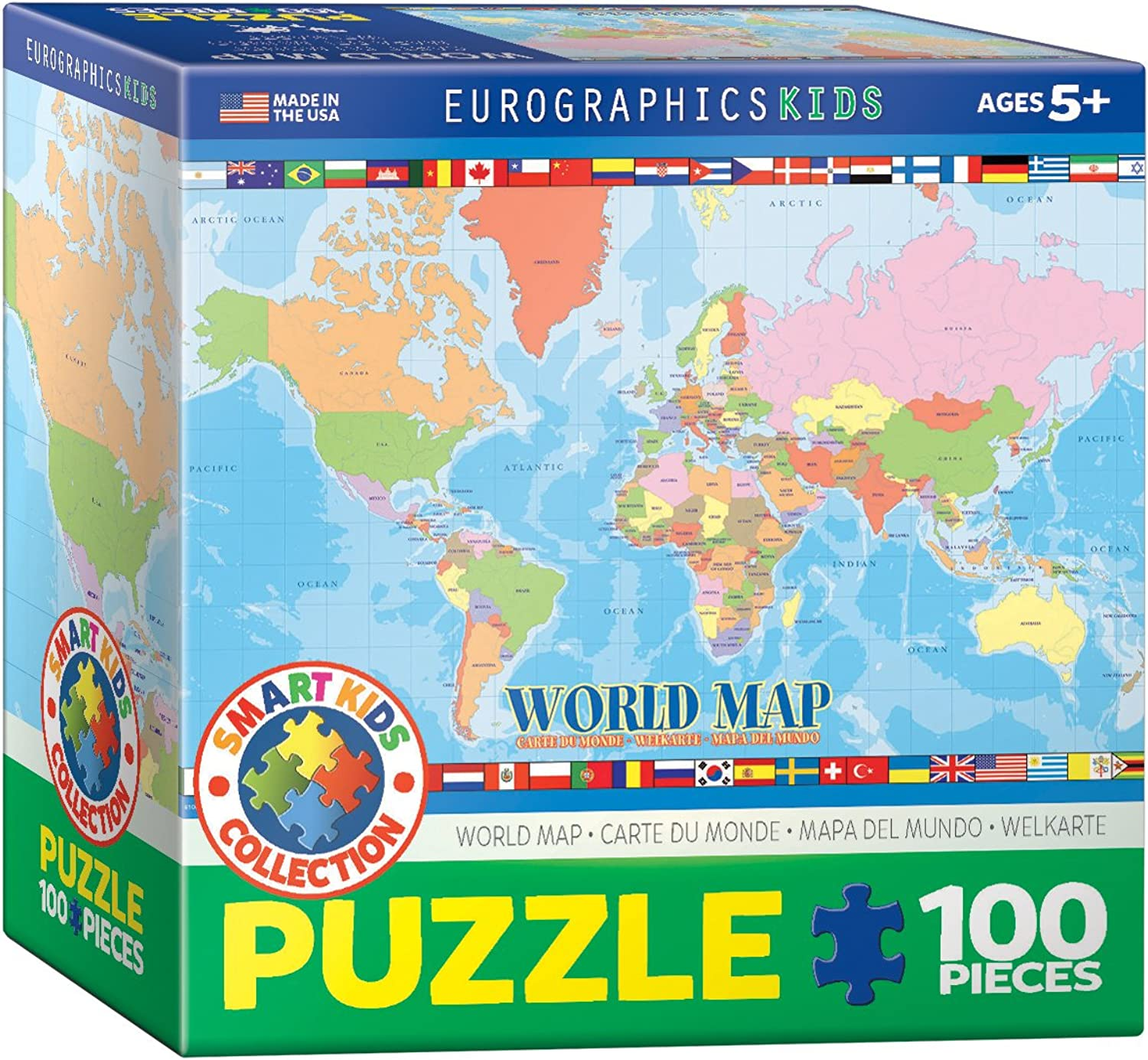 Eurographics World Map for Kids Jigsaw Puzzle (100Piece)