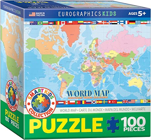 Eurographics World Map for Kids Puzzle (100 Teile)