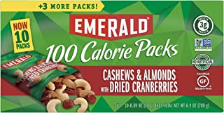 Emerald Nuts, Cashews and Almonds With Dried Cranberries, 100 Calorie Packs, 10 Count, 6.9 Oz