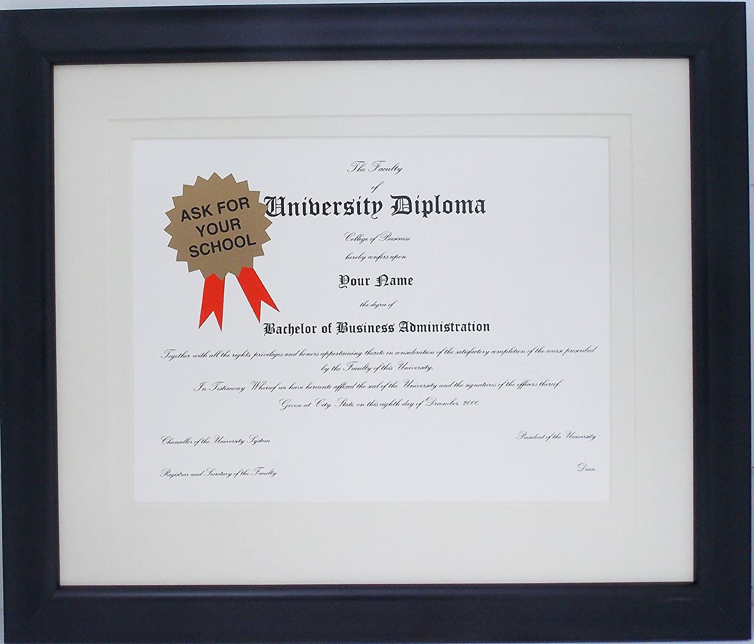 Graduation Diploma Certificate University College Mail order cheap 8-1 Selling and selling 11 Bla X 2