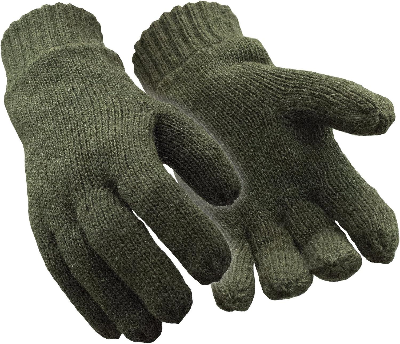 RefrigiWear Fleece Lined Thinsulate Insulated Ragg Wool Gloves
