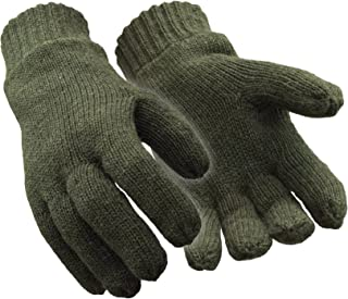 RefrigiWear Fleece Lined Thinsulate Insulated Ragg Wool Gloves