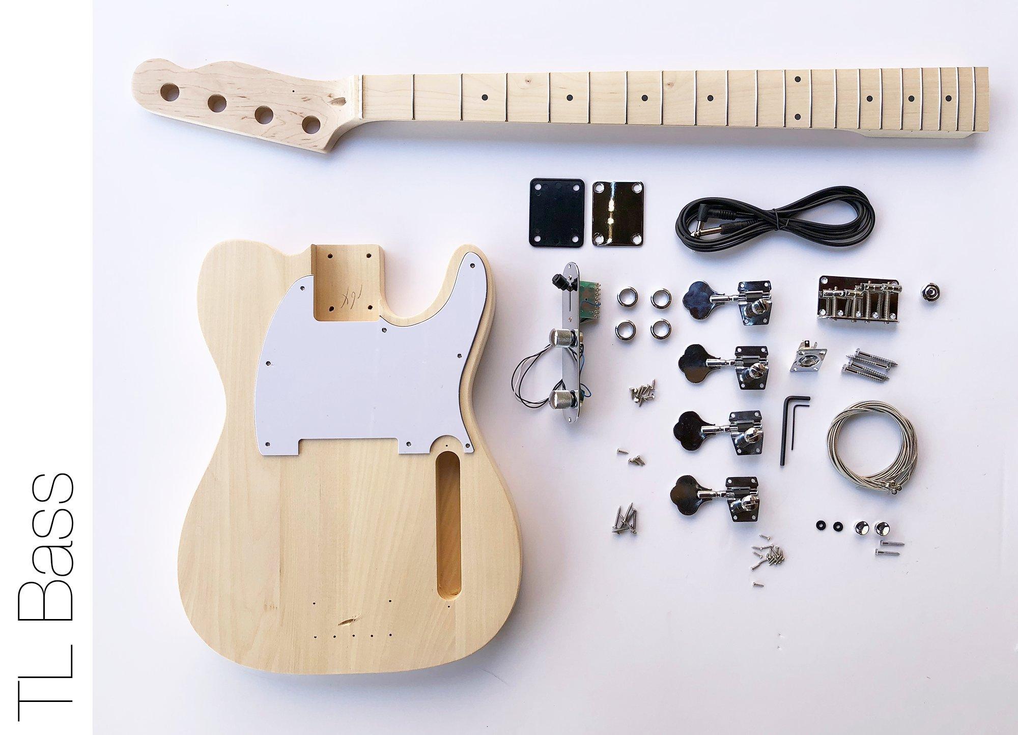 Cheap DIY Electric Bass Guitar Kit - TL Bass Advanced Guitar Kit Black Friday & Cyber Monday 2019