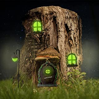 Fairy Door and Windows for Trees – Glow in The Dark Yard Art Sculpture Decoration for Kids Room, Wall and Trees Outdoor | ...
