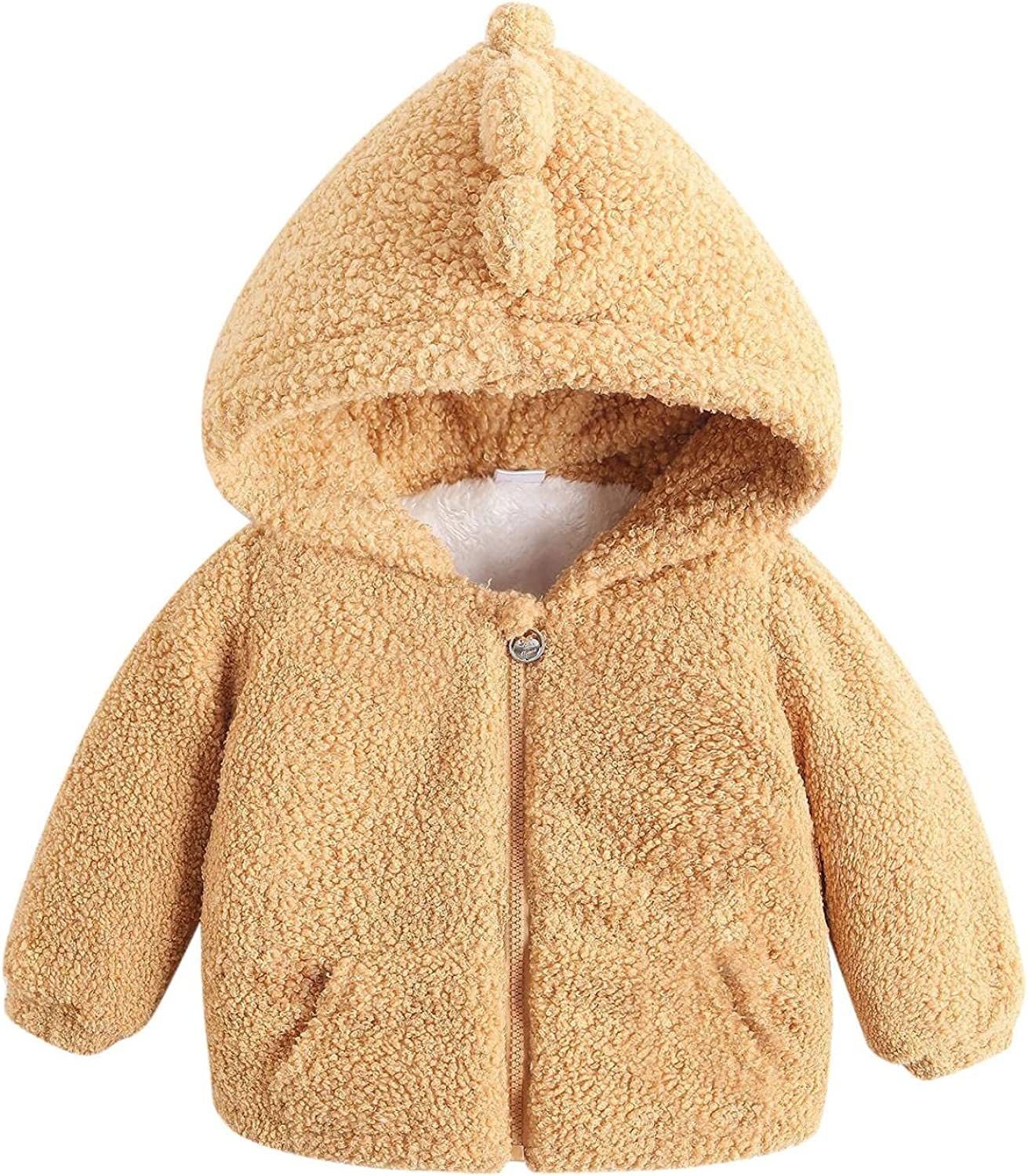 IKFIVQD Portland Mall Toddler Kids Baby 2021 spring and summer new Fleece Hooded Thick Winter Coat Autumn