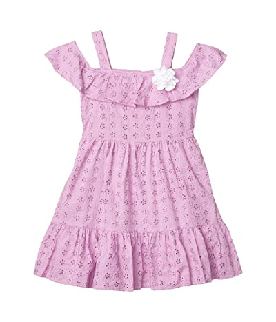 Janie and Jack Eyelet Dress (Toddler/Little Kids/Big Kids) (Purple) Girl