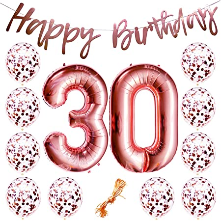 30 /& Fabulous Pre-strung Gold Black 30th Birthday Banner Thirty Year Old Birthday Party Decorations for Men Women
