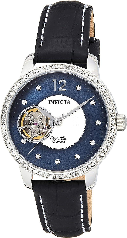 INVICTA Reloj analógico para Mujeres de Automático con Correa en Cuero 22620