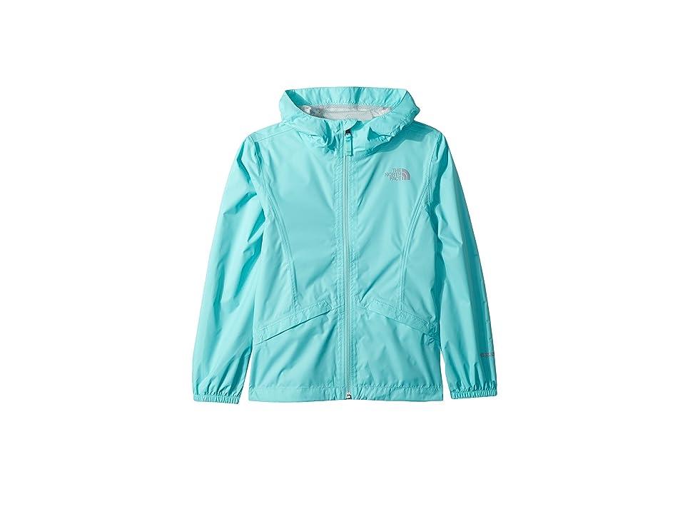 The North Face Kids Zipline Rain Jacket (Little Kids/Big Kids) (Mint Blue) Girl